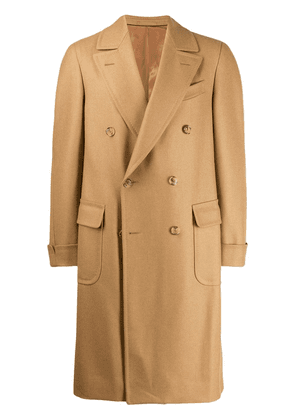 Caruso double-breasted coat - Neutrals