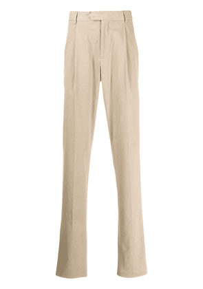 Caruso straight-leg trousers - Neutrals