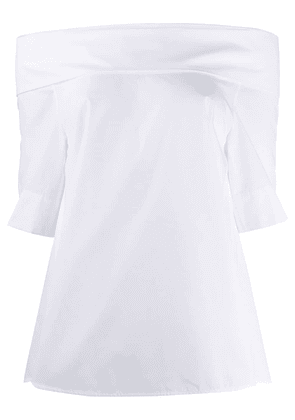 Aspesi off shoulder longline blouse - White