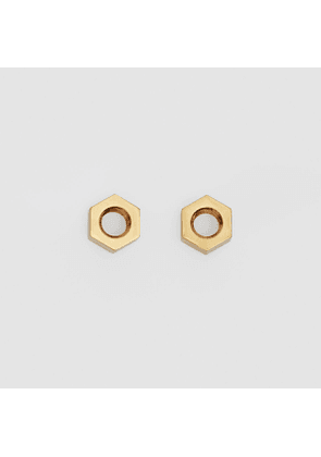 Burberry Gold-plated Nut Earrings, Yellow