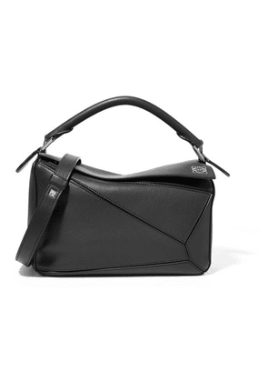 Loewe - Puzzle Small Textured-leather Shoulder Bag - Black