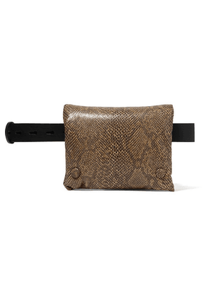 Nanushka - Tao Snake-effect Vegan Leather Belt Bag - Snake print
