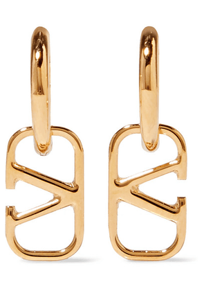 Valentino - Gold-tone Hoop Earrings - one size