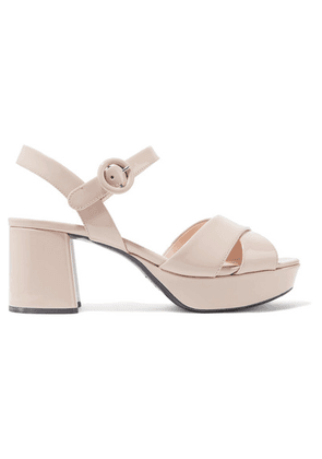 Prada - 65 Patent-leather Platform Sandals - IT39