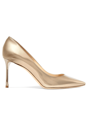 Jimmy Choo - Romy 85 Mirrored-leather Pumps - Gold
