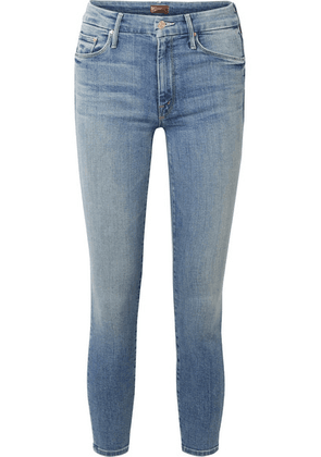 Mother - The Looker Cropped High-rise Skinny Jeans - Mid denim