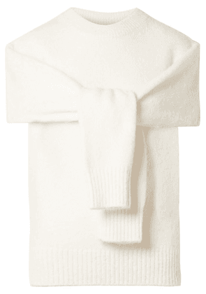 Helmut Lang - Cutout Wool-blend Sweater - Cream