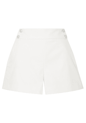Veronica Beard - Kimm Button-embellished Cotton-blend Shorts - Ivory