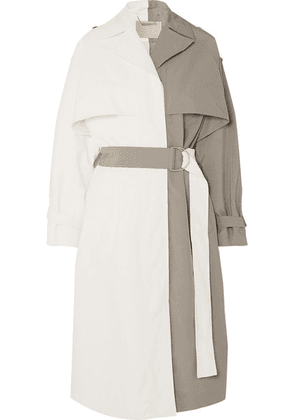 Givenchy - Two-tone Linen And Cotton-blend Trench Coat - White