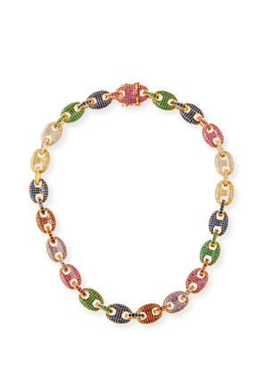 Toscano Pave-Link Necklace, Multicolor