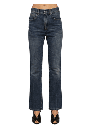 Washed Cotton Denim Jeans