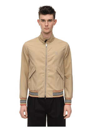 Embroidered Cotton Canvas Bomber Jacket