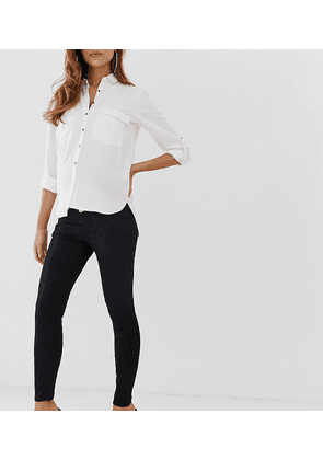 e6e9acea77621 ASOS DESIGN Maternity Ridley high waisted skinny jeans in clean black with  over the bump waistband