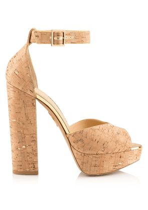 Charlotte Olympia Sale Women - EUGENIE VC NATURAL & GOLD CORK 41