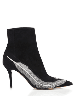 Charlotte Olympia Boots Women - SILVIA 85 BLACK Suede 36