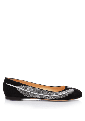 Charlotte Olympia Flats Women - DARCY BLACK Suede 35