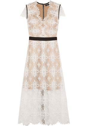 Catherine Deane Garland Macramé Lace Midi Dress Woman Ivory Size 8