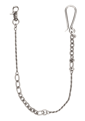 Andrea D'amico chain keyring - Silver