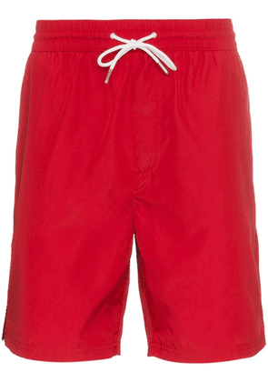 Burberry Drawcord Swim Shorts - Red