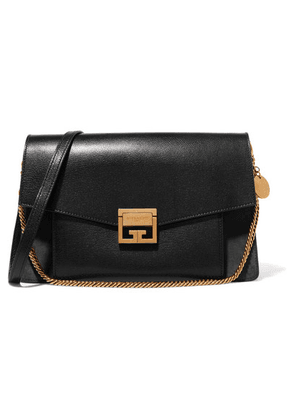 Givenchy - Gv3 Medium Leather And Suede Shoulder Bag - Black