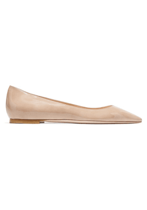 fe757a3e7b ... Romy Patent-leather Point-toe Flats - Neutral. Jimmy Choo