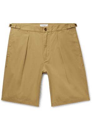 J.Crew - Wallace & Barnes Pleated Cotton Shorts - Brown