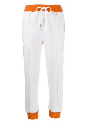 Marni contrast stripe track pants - White