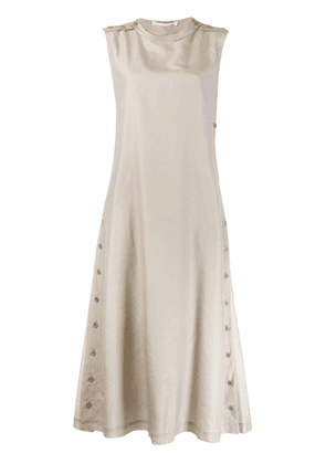 Cherevichkiotvichki side button dress - Grey