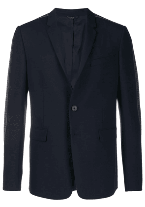 Fendi logo trim slim blazer - Blue