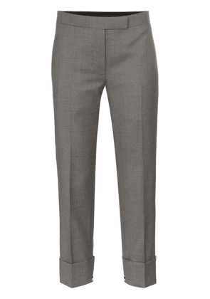 Thom Browne exposed-stripe cuff trousers - Grey