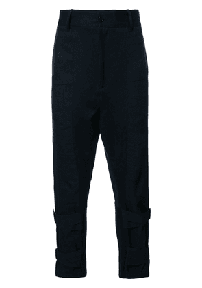 Ann Demeulemeester ankle strap trousers - Black