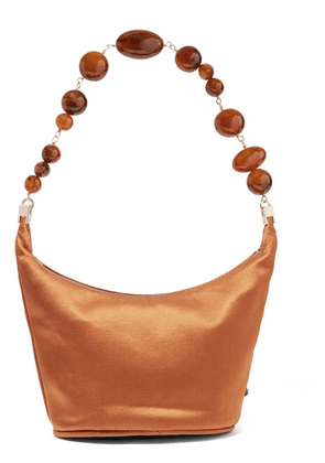 Cult Gaia - Gia Silk-satin Shoulder Bag - Brown