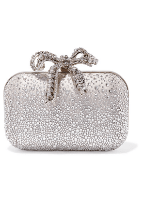 Jimmy Choo - Cloud Crystal-embellished Satin Clutch - Silver