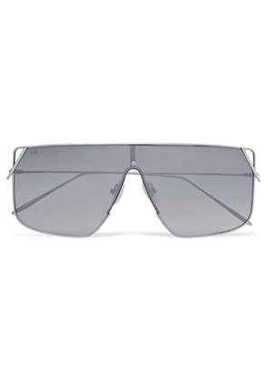 For Art's Sake - Horizon D-frame Silver-tone Mirrored Sunglasses - one size