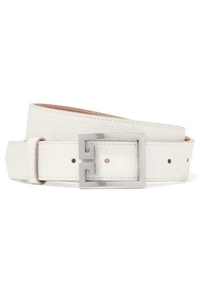 Givenchy - Gv3 Textured-leather Belt - White