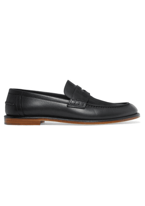 Loewe - Leather Penny Loafers - Black