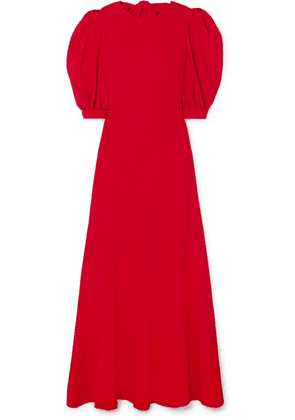 Elie Saab - Open-back Crepe Gown - Red