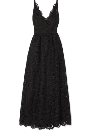 Elie Saab - Cotton-blend Broderie Anglaise Maxi Dress - Black