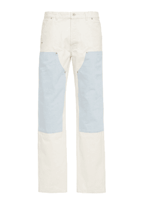 Heron Preston Two-Tone Paneled Slim-Fit Jeans
