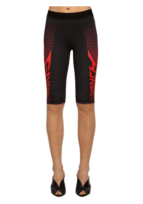 Logo Print Tech Jersey Cycling Shorts