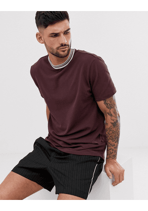 River Island t-shirt in red with taping
