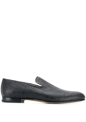 Brioni woven effect loafers - Blue