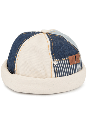Beton Cire patched beanie - Blue