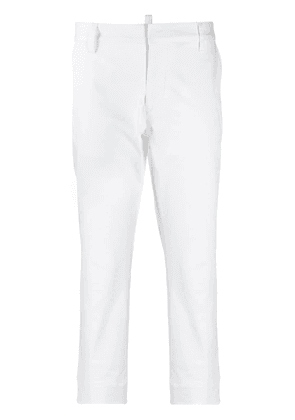 Dsquared2 cropped slim-fit trousers - White
