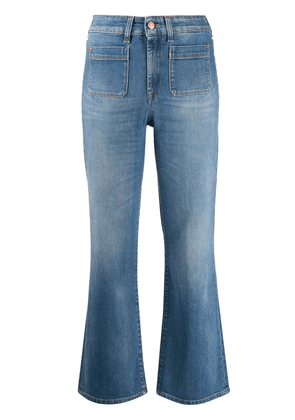 7 For All Mankind mid rise kick flare jeans - Blue
