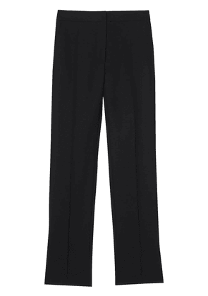 Burberry Satin Stripe Detail Wool Tailored Trousers - Black