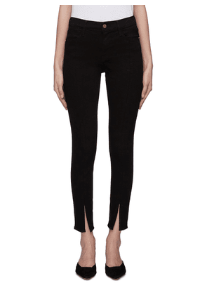 'Le High Skinny' split cuff jeans