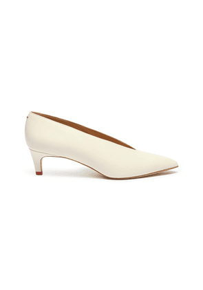 'Camilla' choked-up leather pumps