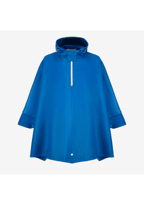 Lightweight Leather Cape Blue 1