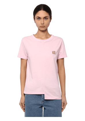 Asymmetric Anagram Cotton Jersey T-shirt